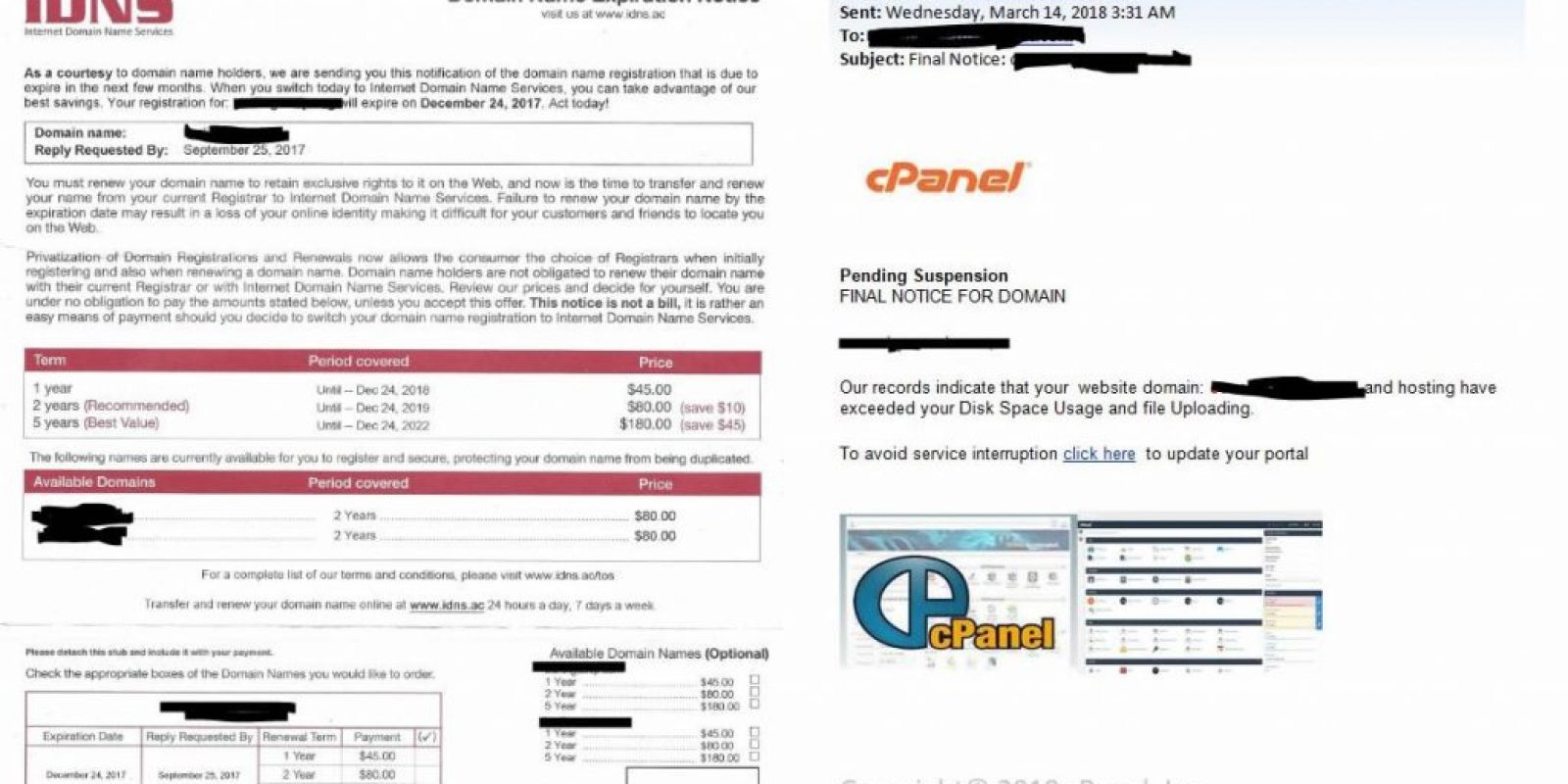 idns-and-cpanel-scams